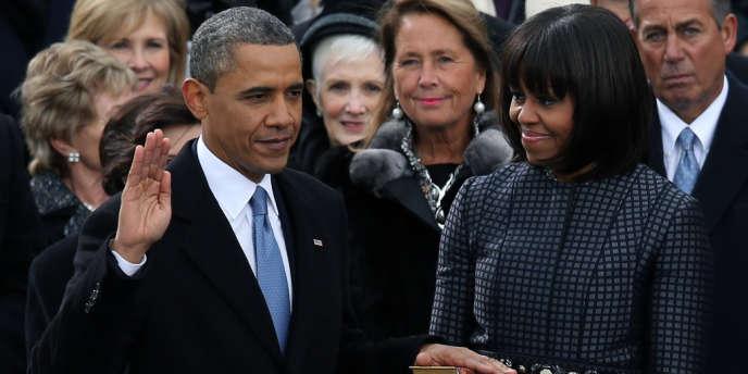 Barack Omabama a prêté serment lundi 21 janvier devant le Capitole à Washington.