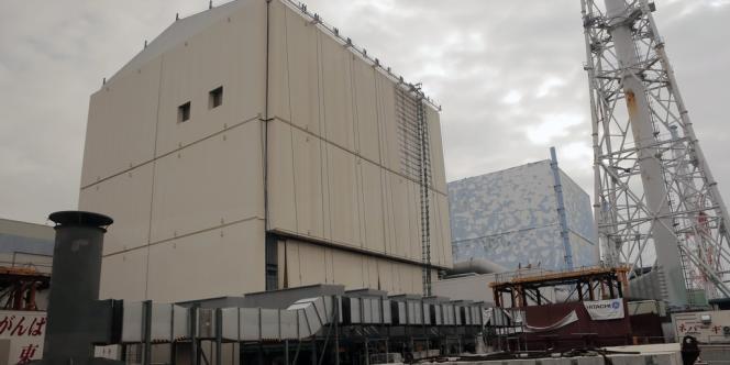 Vue des réacteurs numéro 1 et 2 de la centrale de Fukushima, en décembre 2012.