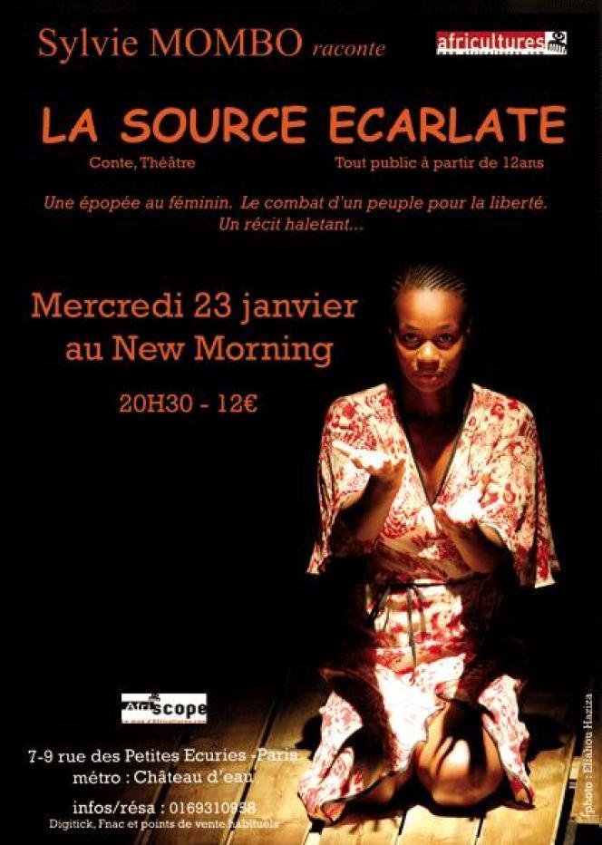 Affiche du spectacle de Sylvie Mombo,