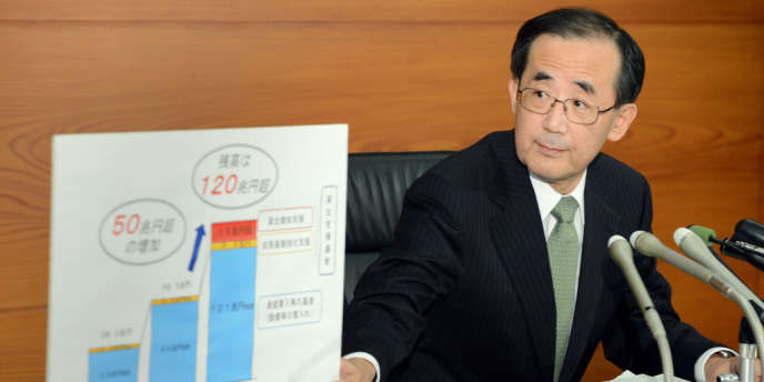 Le gouverneur de la Banque centrale du Japon Masaaki Shirakawa lors d'une conférence de presse à Tokyo le 20 décembre 2012.