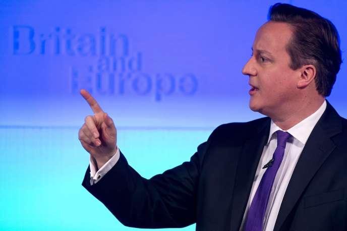 David Cameron, lors de son discours sur l'Europe, à Londres, le 23 janvier.
