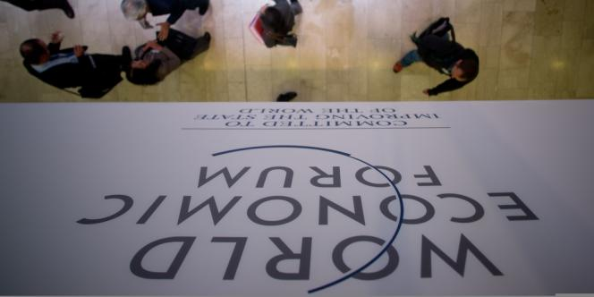 Forum économique mondial, à Davos (Suisse).