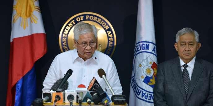 Albert del Rosario, ministre philippin des affaires étrangères, le 22 janvier à Manille.