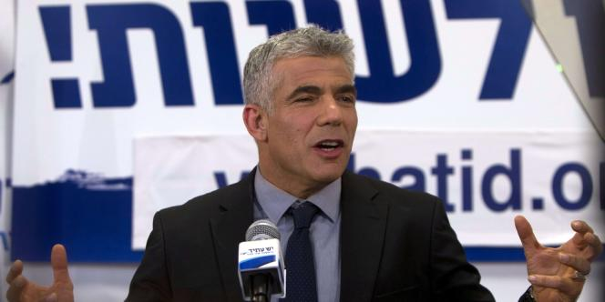 Yair Lapid, le chef du parti Yesh Atid , à Tel-Aviv, le 23 janvier3.