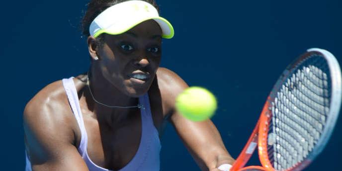 Sloane Stephens, lors de son quart victorieux face à Serena Williams.