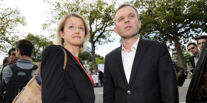 Les deux coprésidents du groupe écologiste de l'Assemblée nationale, Barbara Pompili  et François de Rugy.