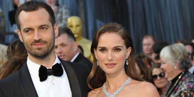 Benjamin Millepied et Natalie Portman lors de la 84e cérémonie des Oscars à Hollywood, le 26 février 2012.