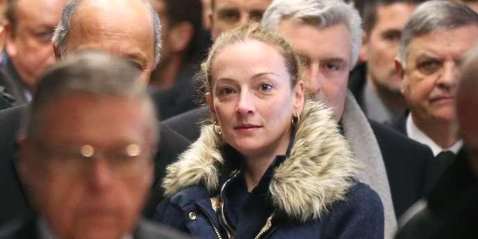 Florence Cassez a son arrivée à Paris, jeudi après-midi.