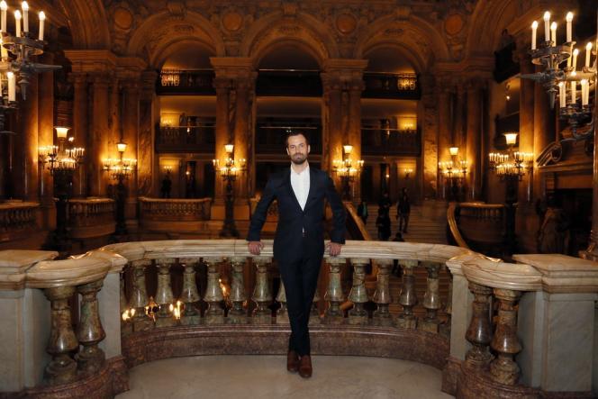 Benjamin Millepied, le 24 janvier à l'Opéra Garnier.