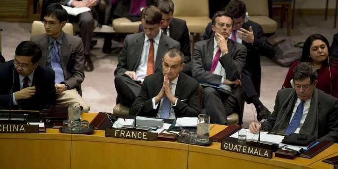L'ambassadeur de France à l'ONU Gérard Araud, le 22 janvier à New York sur la situation au Mali.