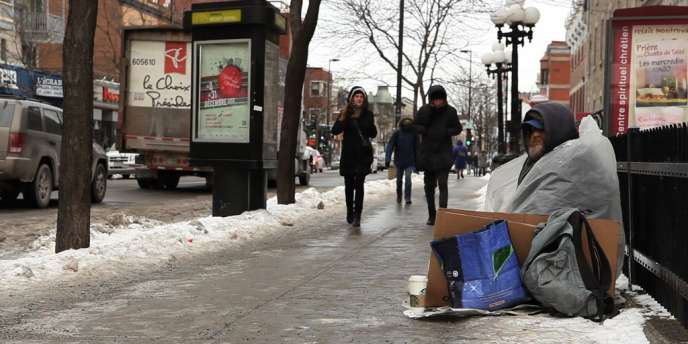A  Montréal, au Canada, la température est descendue sous 38 degrés Celsius, mercredi 23 janvier.