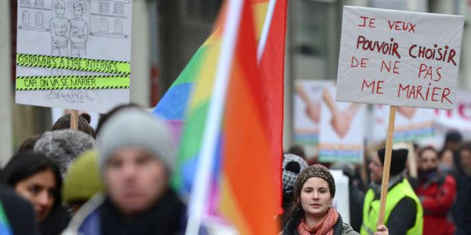 Manifestation pro-mariage homosexuel le 19 janvier à Strasbourg.