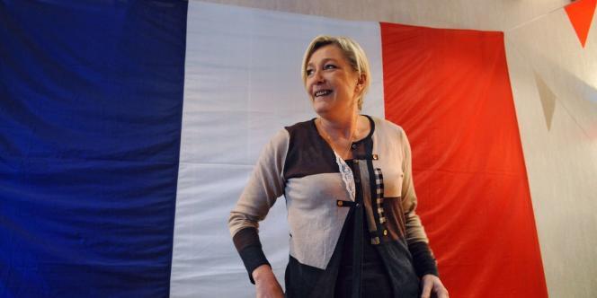 Marine Le Pen à Laboutarie (Tarn), le 13 janvier.
