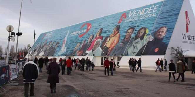 Les abords du port des Sables d'Olonne samedi, veille de l'arrivée du Vendée Globe 2012-2013.