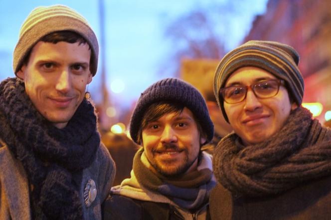 Grégory, Mathias et David