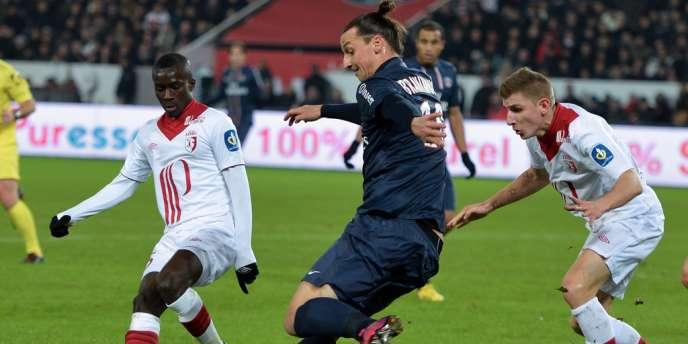 L'attaquant parisien Zlatan Ibrahimovic, dimanche soir face à Lille.