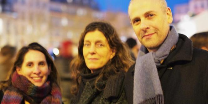 Line, Isabelle et Thomas.