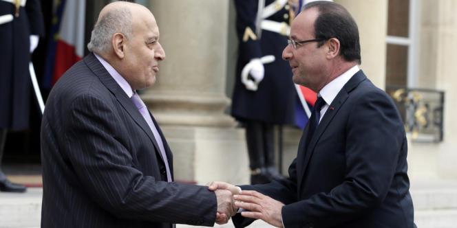 Monzer Makhous avec François Hollande, le 17 novembre 2012.