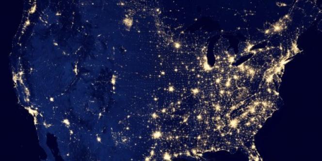 Image des Etats-Unis la nuit, diffusée par la NASA le 5 décembre.