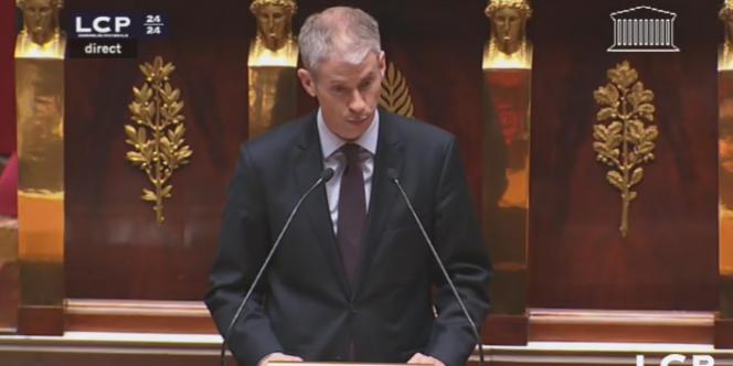 Franck Riester (UMP), à l'Assemblée, le 20 janvier 2013.