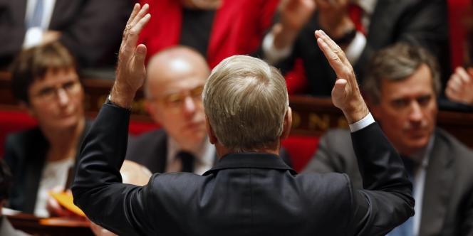 Jean-Marc Ayrault, lors des questions au gouvernement, le 29 janvier à l'Assemblée.