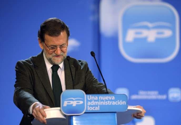 Le premier ministre espagnol, Mariano Rajoy, le 19 janvier.