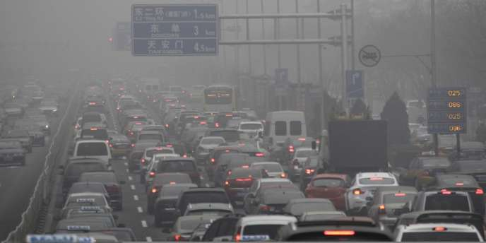 Embouteillage à Pékin en janvier 2013.