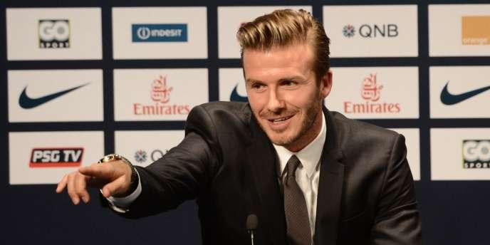 Le footballeur David Beckham, modèle métrosexuel.