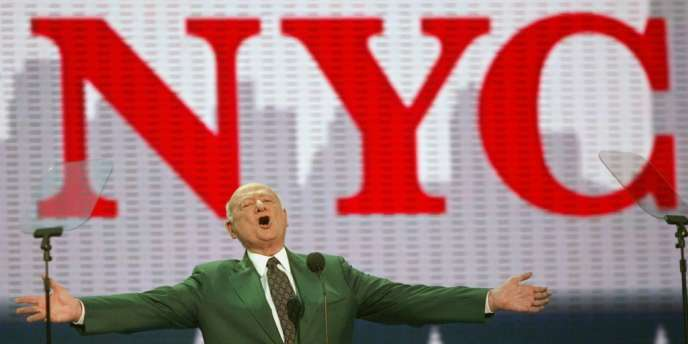 L'ancien maire de New York Ed Koch lors de la convention républicaine, le 30 août 2004 à New York.