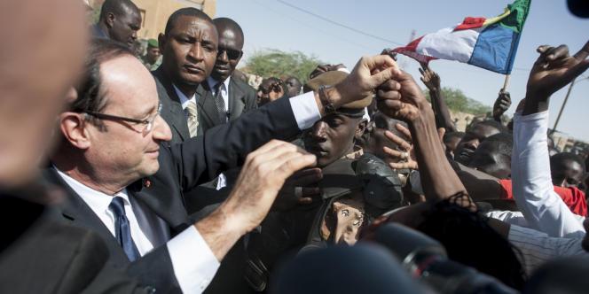 François Hollande à Tombouctou, le 2 février.