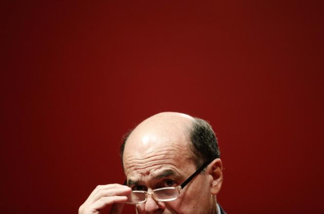 Pier Luigi Bersani, candidat du Parti démocrate, à Rome, le 25 janvier.