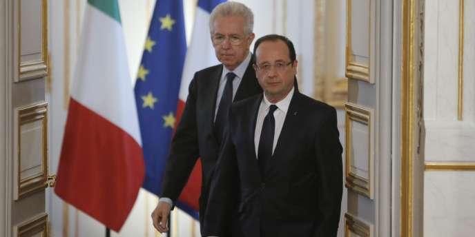 Le président français François Hollande et le président du conseil italien Mario Monti ont estimé, dimanche 3 février, que les conditions d'un compromis