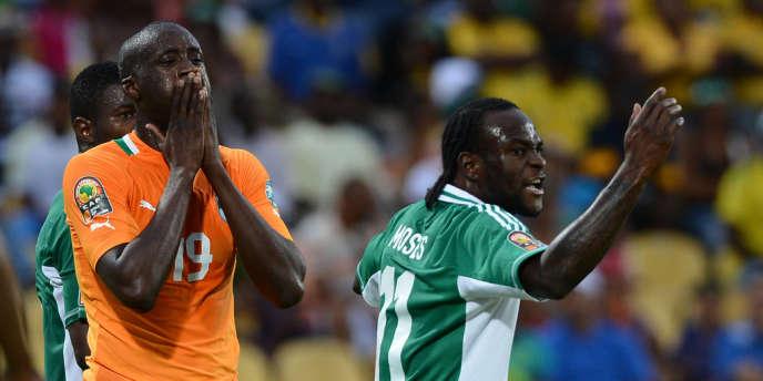 Yaya Touré n'en revient pas, le Nigéria sort la Côté d'Ivoire en quart de finale de la CAN.