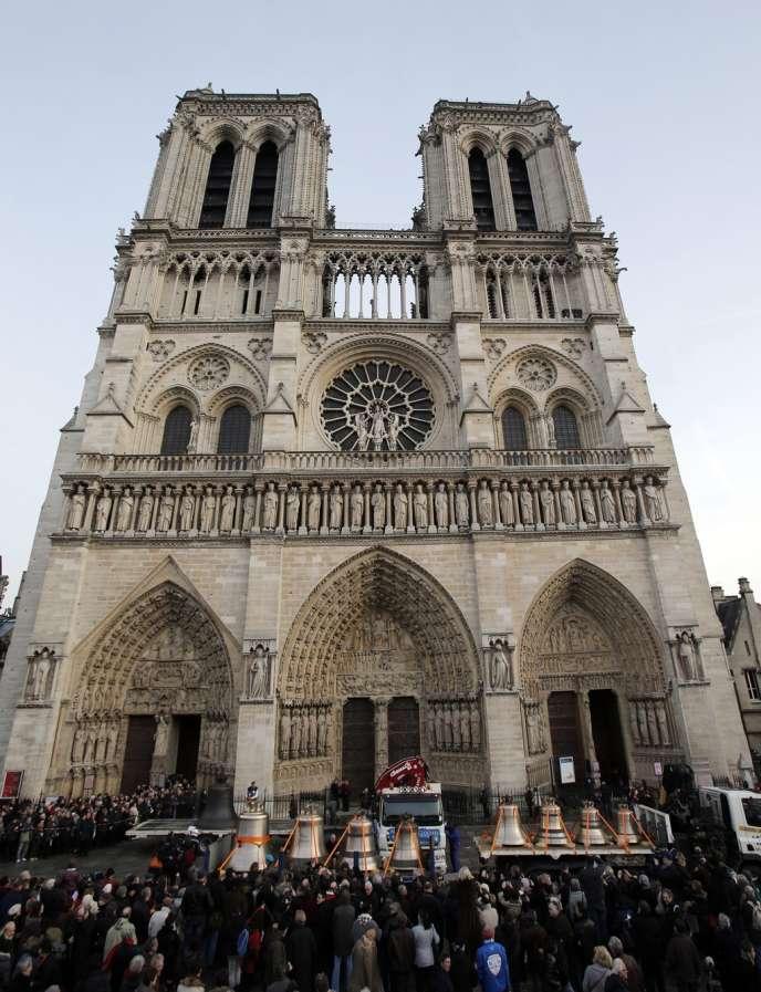 La cathédrale Notre-Dame à Paris.