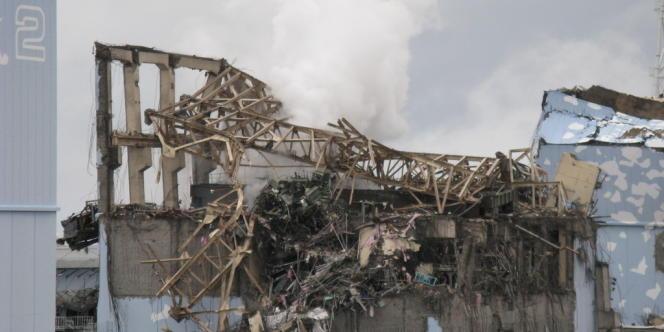 Une vue de la centrale de Fukushima, après la catastrophe du 11 mars 2011.