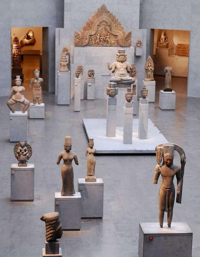 La salle de l'art khmer du Musée Guimet, à Paris.