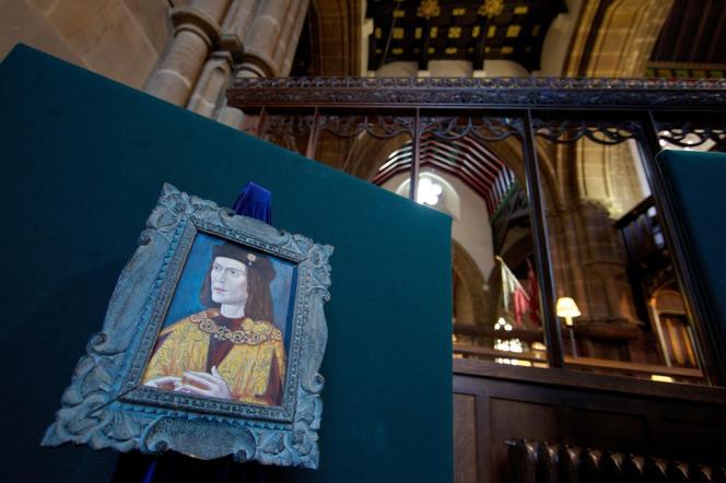 Portrait de Richard III d'Angleterre, dans la cathédrale de Leicester, le 4 février.