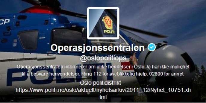 Le compte Twitter du centre des opérations de la police d'Oslo (@oslopolitiops).