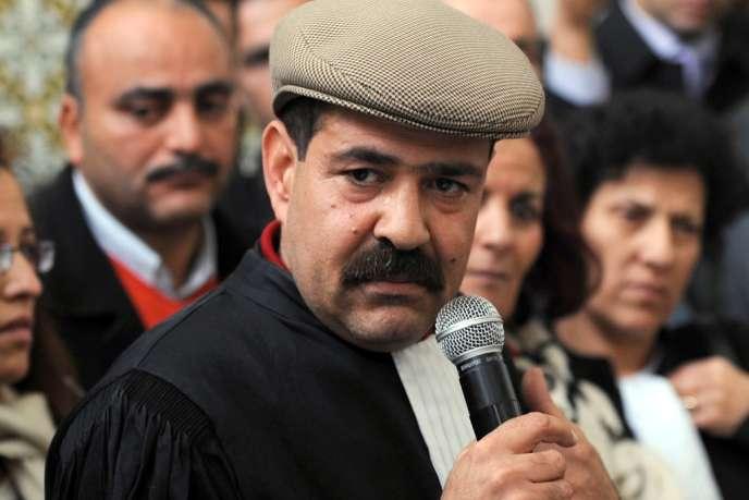 Chokri Belaïd en décembre 2010, à la veille de la révolution tunisienne.