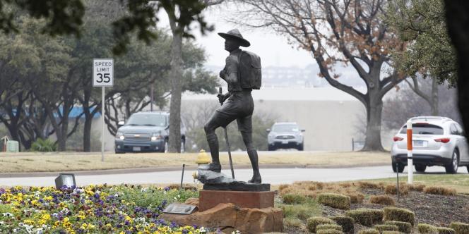 A l'entrée du Musée des scouts d'Amérique, à Irving au Texas, le 5 février.