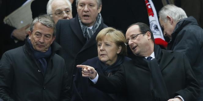 François Hollande et Angela Merkel assistaient tous deux au match France-Allemagne au Stade de France.
