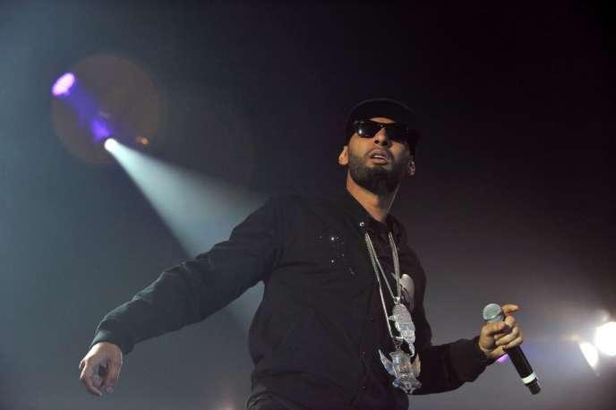 Le rappeur La Fouine en concert au Printemps de Bourges, le 11 avril 2011.
