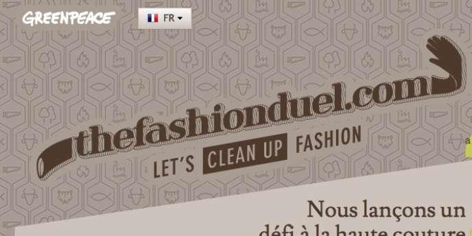 Capture d'écran du site The Fashion duel