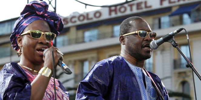 Les 28es Victoires de la musique consacreront une séquence spéciale au Mali avec Amadou et Mariam (ici en concert à Nice, le 12 juillet 2012).