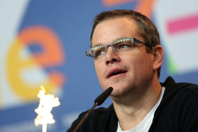 Matt Damon lors de la conférence de presse du film