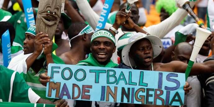 Des supporteurs du Nigeria, lors de la finale du 10 février.