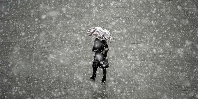 Neige à Strasbourg le 5 février.