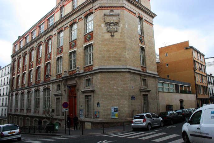 L'école élémentaire de la rue Ramponeau, dans le XXe arrondissement de Paris.