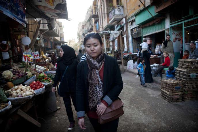 Yitong Shen au Caire, en janvier 2013.