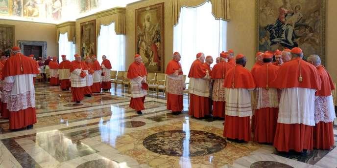 Les cardinaux au Vatican, le 11 février.